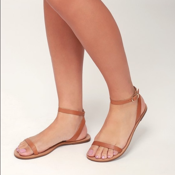 379a6c6ce0ee4 LULU'S Colette Nappa leather flat sandals tan. M_5c880d784ab6331e936313aa